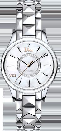 DIOR VIII MONTAIGNE精钢及珍珠母贝腕表