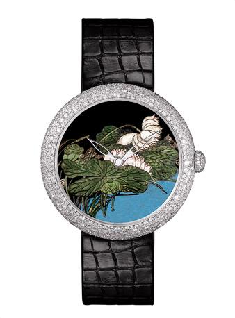 """香奈儿MADEMOISELLE PRIVÉ珠宝腕表 COROMANDEL表盘 """"大明火""""珐琅工艺。"""